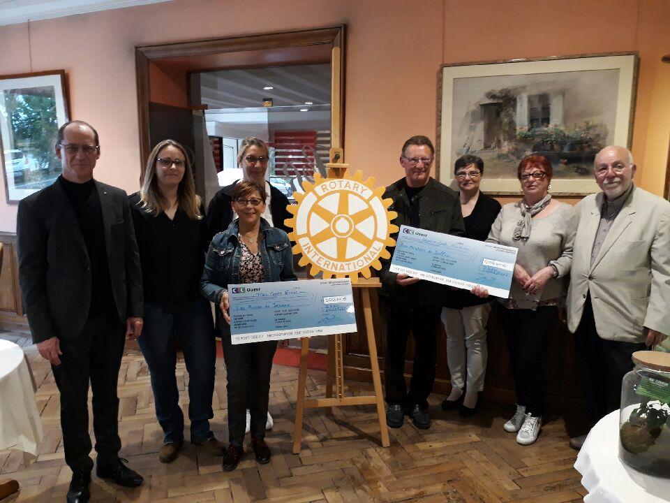 2019 - Remise de chèque aux associations les Roses de Jeanne et les Archers de Sully sur Loire.
